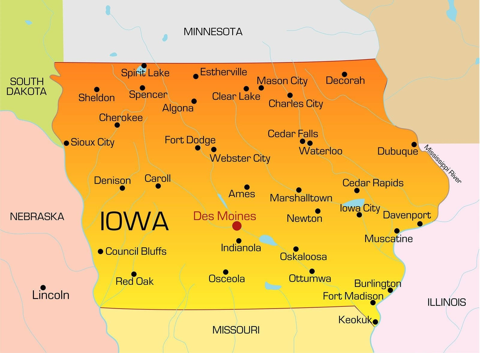 Iowa LPN Requirements and Training Programs Where Is Iowa On The Map on perry iowa on map, united states map, independence iowa on a map,