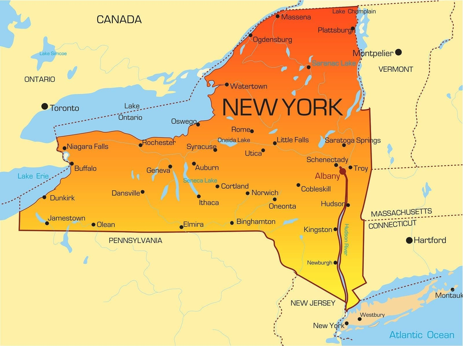 Colleges In Ny State Map.New York Lpn Requirements And Training Programs