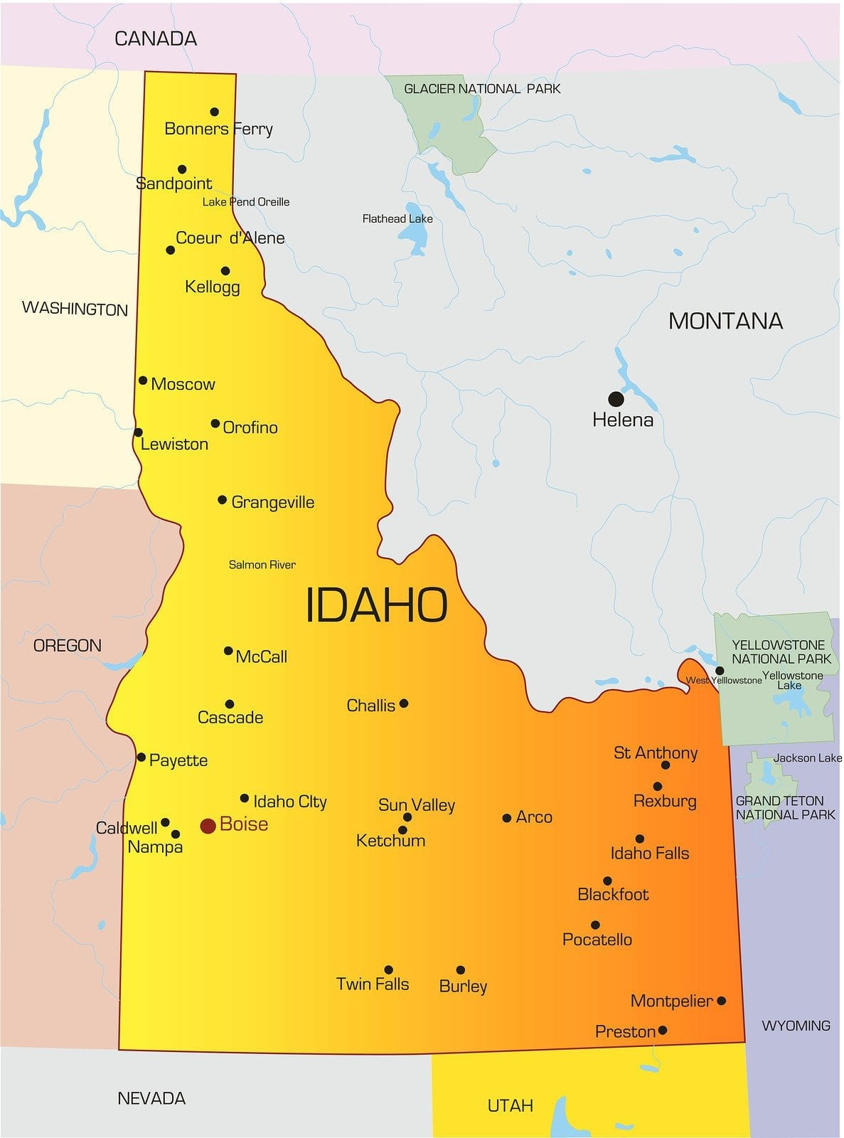 Idaho LPN Requirements and Training Programs on voter map, community map, government map, target map, the world's end map, death map, incident map,